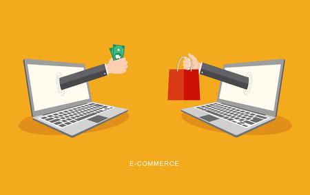 freelance: Internet payment flat illiustration. eps10