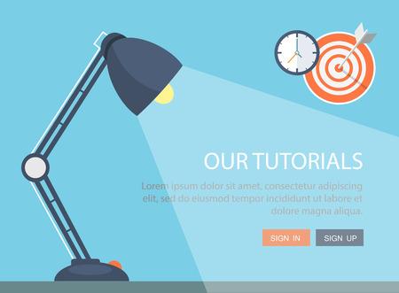 interior office: Flat lamp illustration. Illustration