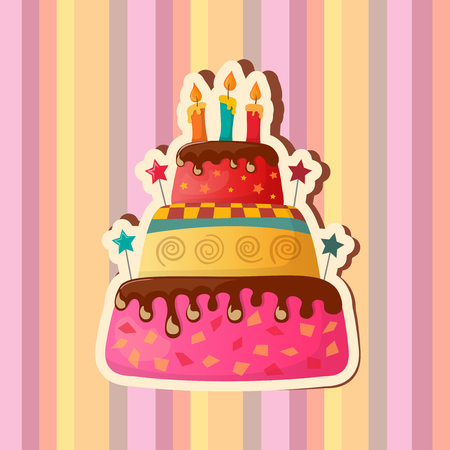 birthday card with cake. eps10 Ilustrace