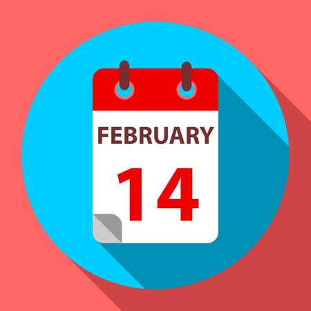 february 14: Calendar february 14