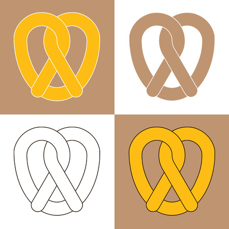 bretzel: Pretzel bakery isolated icon
