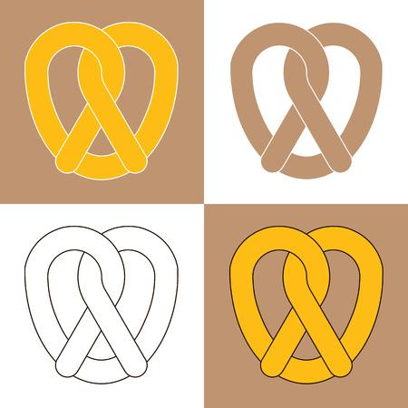 bretzel: Pretzel bakery isolated icon