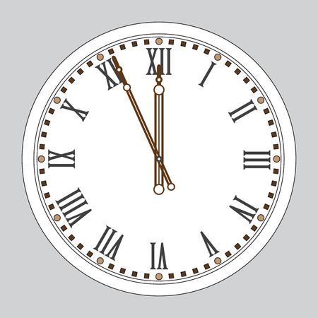 Chime. New Year's watch. Wall clock