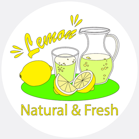 Lemonade with glass and carafe.