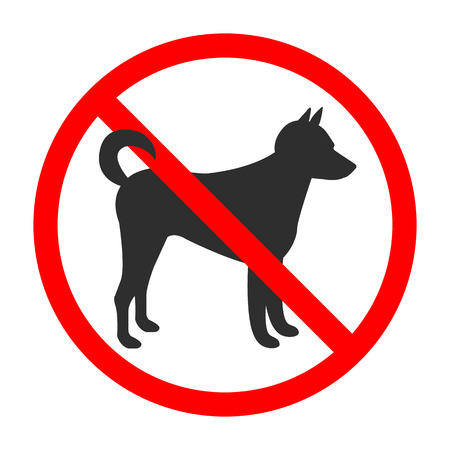 No Dogs Sing. No Animals Allowed. Vector Isolated Illustration. Banque d'images - 122571697