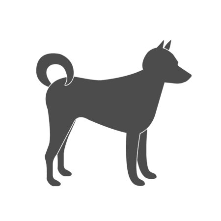 Dog Sign. Silhouette of dog. Vector Isolated Illustration.
