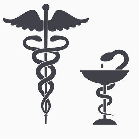 antidote: Medical symbol icon on white background. Vector illustration. Illustration