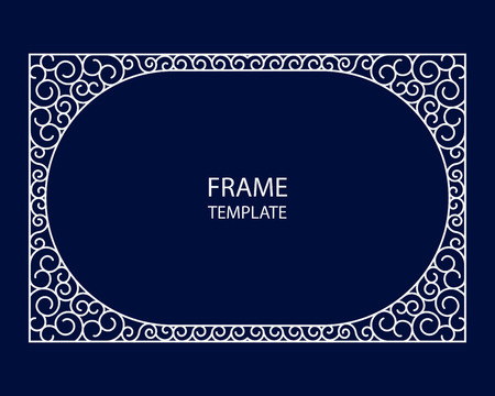 ornate frame: Decorative monogram for design template