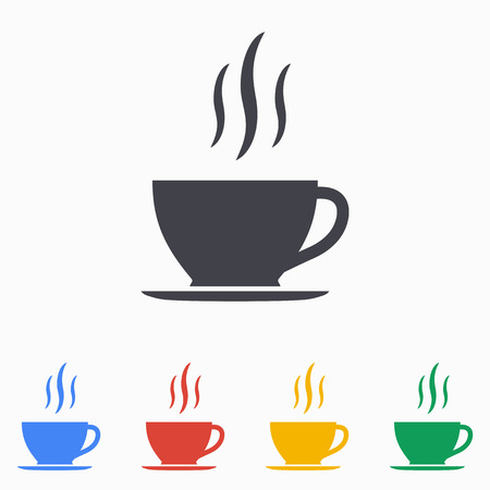 coffee cup icon: Coffee cup icon illustration