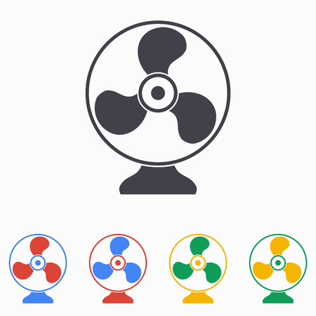 aeration: Electric fan icon illustration