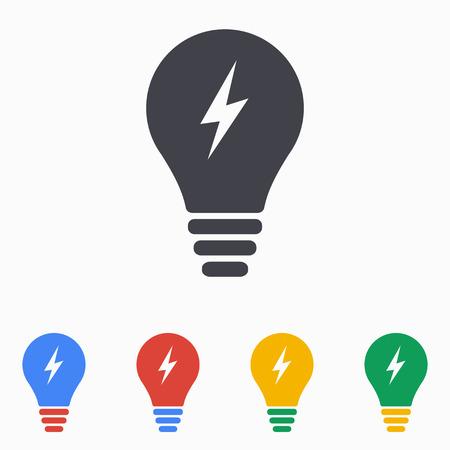 Lightbulb icon, vector illustration. Vettoriali