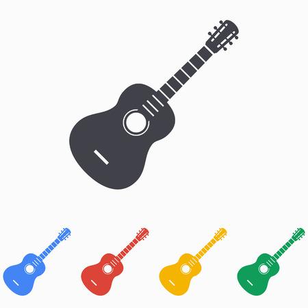 guitarra: Guitarra icono ilustración Vectores