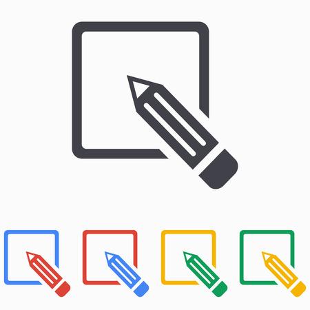 Registration icon on white background