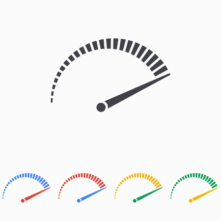 Speed icon on white background  イラスト・ベクター素材