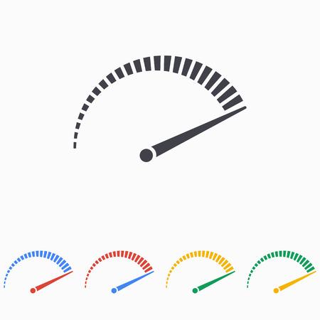 car speed: Speed icon on white background Illustration