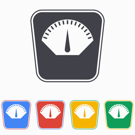 weighing scale: Scale icon on white background