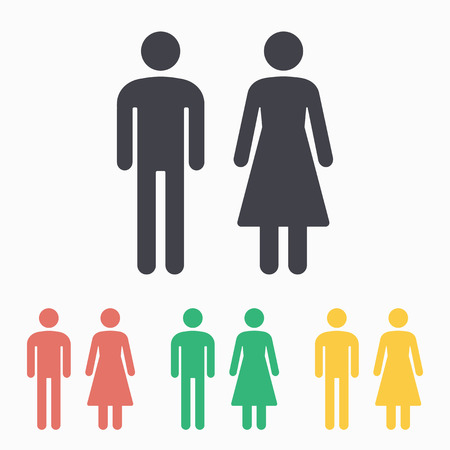 Man & Woman Restroom icon Standard-Bild - 44201638