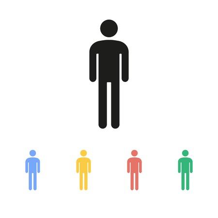 hombres trabajando: Icono de hombre Vectores
