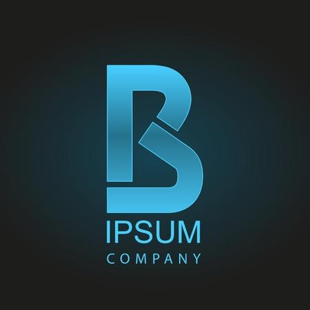 Graphic decorative design alphabet  letter B