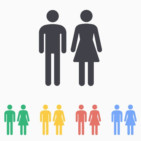 男性・女性トイレ アイコン  イラスト・ベクター素材