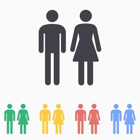 Man & Woman Restroom icon Standard-Bild - 44737234