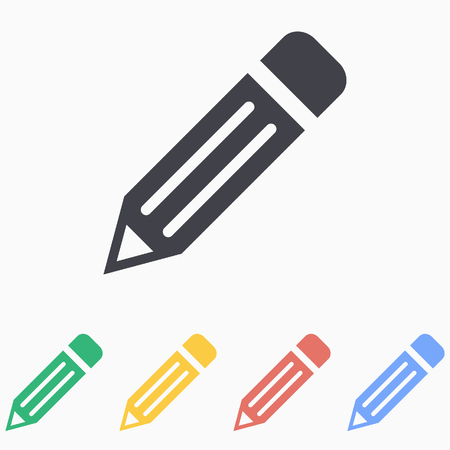pen icon: Pencil  icon - vector icon in black on a white background. Illustration