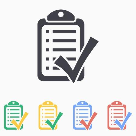 filling folder: Checklist icon