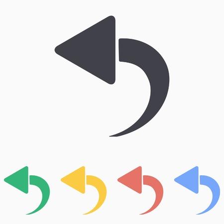 upward movements: Backward icon