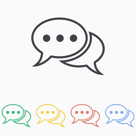 instant message: Chat icon on a white background. Vector illustration, flat design.