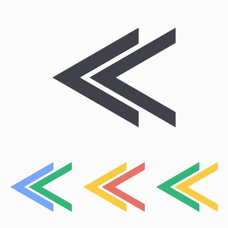 cerulean: Arrow icon, vector illustration.