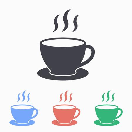 コーヒーカップ: コーヒー カップのアイコン、ベクトル図です。