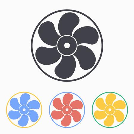aeration: Electric fan icon, vector illustration.