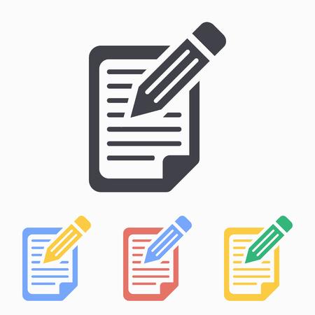 Registration icon, vector illustration. Vettoriali