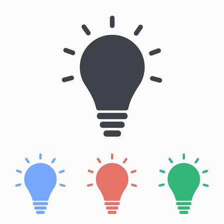 invent clever: Lightbulb icon, vector illustration. Illustration
