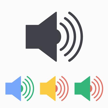 speaker icon: Speaker icon, vector illustration.