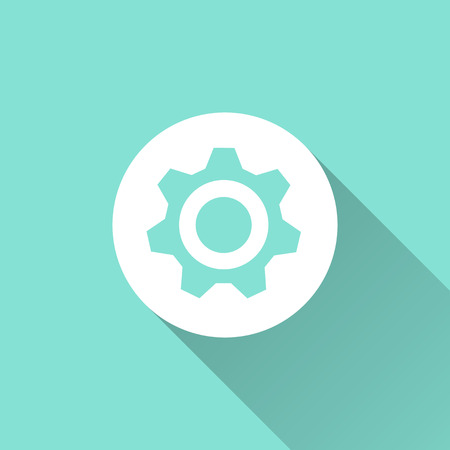 Settings icon, vector illustration, flat design