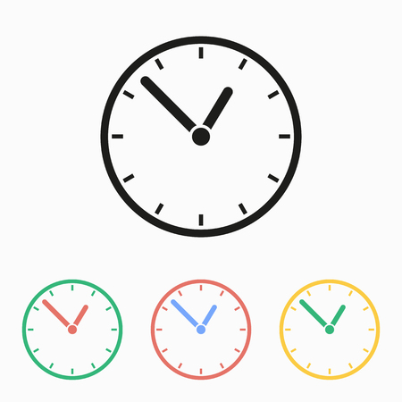 Clock icon, vector illustration.