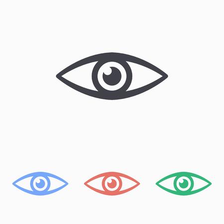 eye icon: Eye icon, vector illustration.