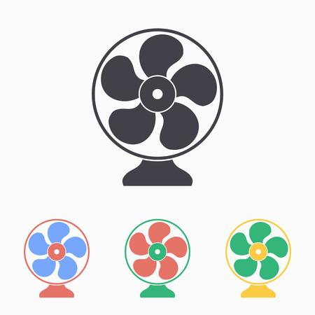 orificio nasal: Icono del ventilador eléctrico, ilustración vectorial.