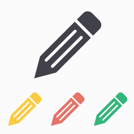 Pencil icon, vector illustration.