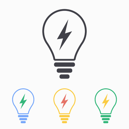 Lightbulb icon, vector illustration.  イラスト・ベクター素材