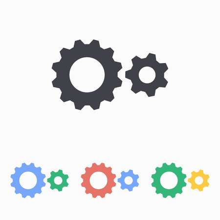 mechanical engineering: Machinery  icon, vector illustration. Illustration
