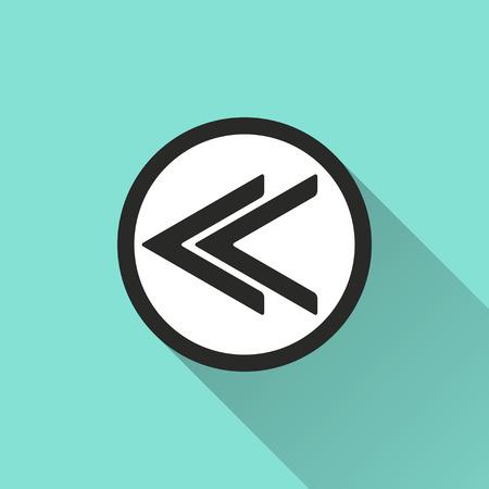reviser: Backward icon, vector illustration, flat design. Illustration