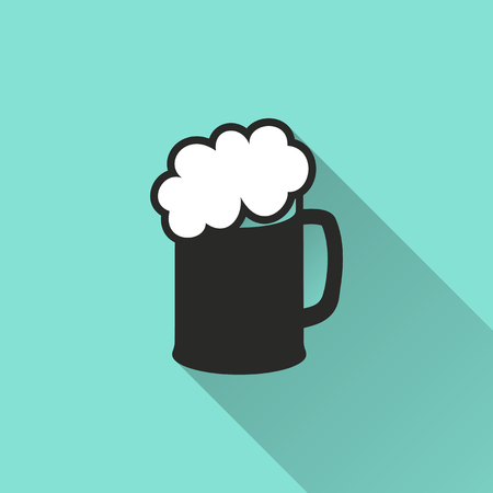 pint: Pint icon, vector illustration, flat design.