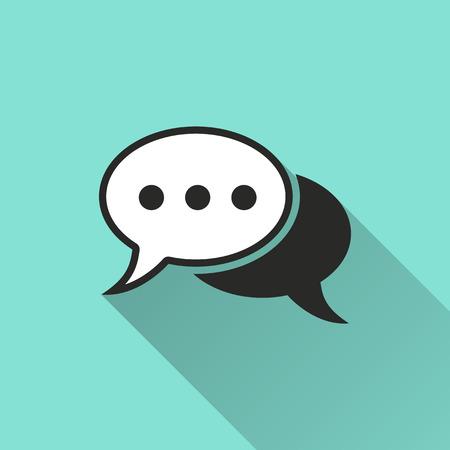 chat icon: Chat  icon, vector illustration, flat design.
