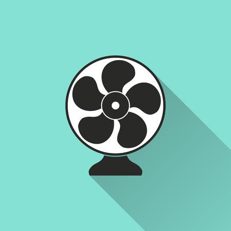 airscrew: Electric fan icon. Vector illustration, flat design.