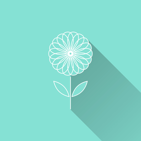 blooms: Flower  icon. Vector illustration, flat design.