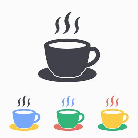 Coffee cup icon. Vector illustration, flat design. Иллюстрация