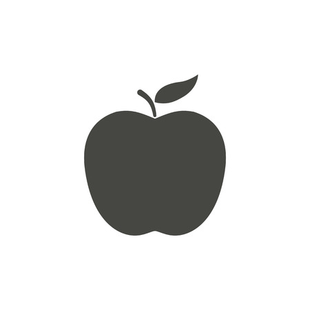 ripened: Apple - vector icon in black on a white background.