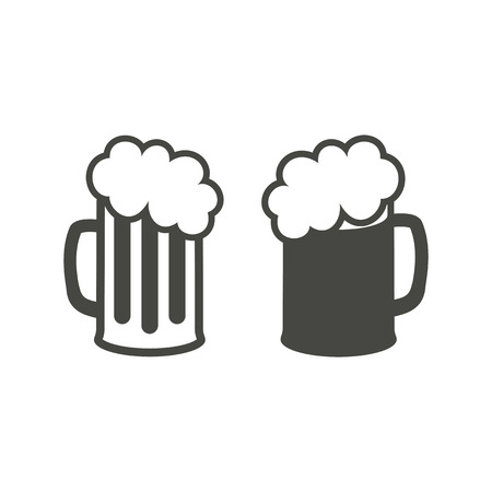 pint: Pint icon - vector icon in black on a white background. Illustration